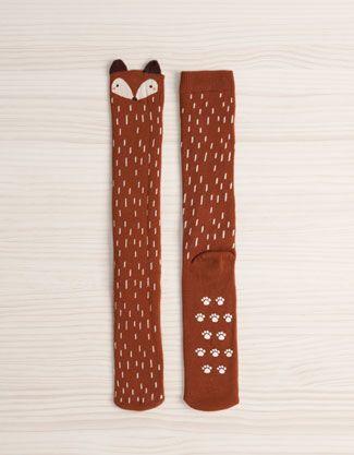 Long fox print socks - Socks - Accessories - United Kingdom