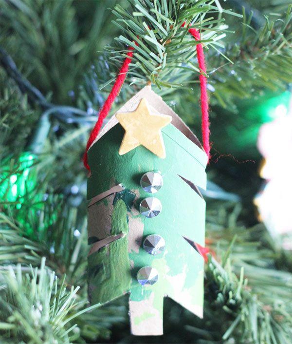 Alberelli di Natale con rotoli di carta n.1