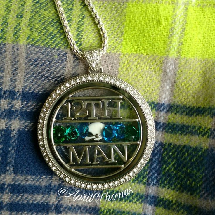 Origami Owl - Seattle Seahawks inspired locket 🏈💚💙 #12thman #football www.charmingsusie.origamiowl.com