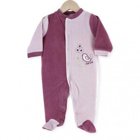 """Pijama """"Pajarito"""" #pijama #bebe #niña #reciennacido #pajarito #lila #rosa #kinousses"""