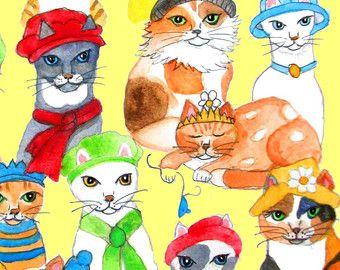 Siamese Kitten Print of Original Watercolor as by OzarksArtStudio