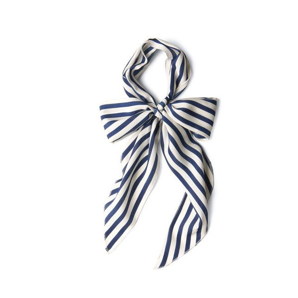 Nautical Bow to Stern Scarf ($7.99) ❤ liked on Polyvore featuring accessories, scarves, bows, stripes, fashion scarf, varies, esther williams, nautical scarves и striped scarves
