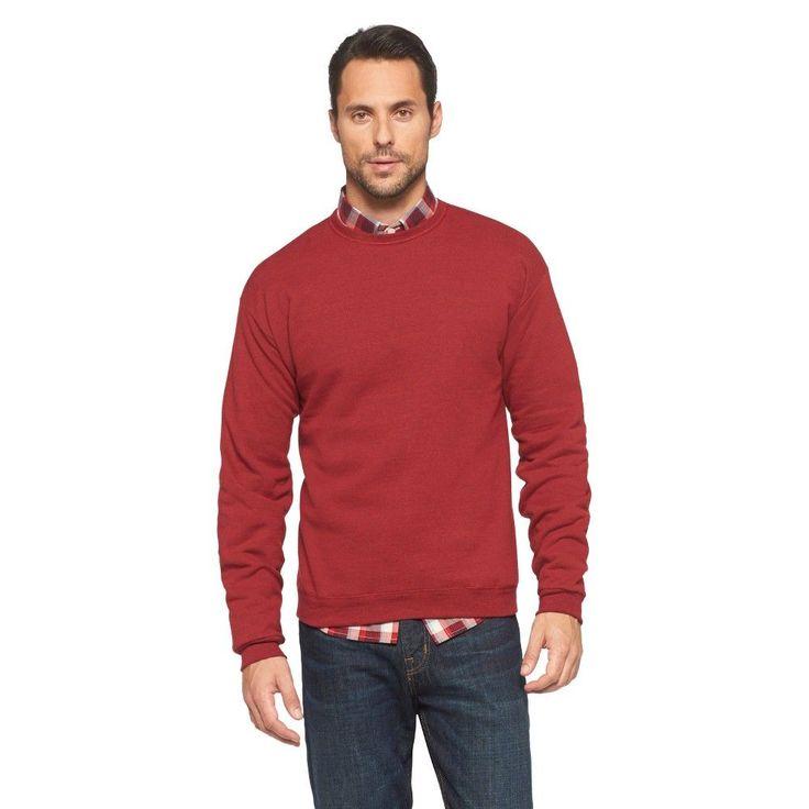 Hanes Premium Men's Activewear Sweatshirt - Red L, Chili Pepper Red