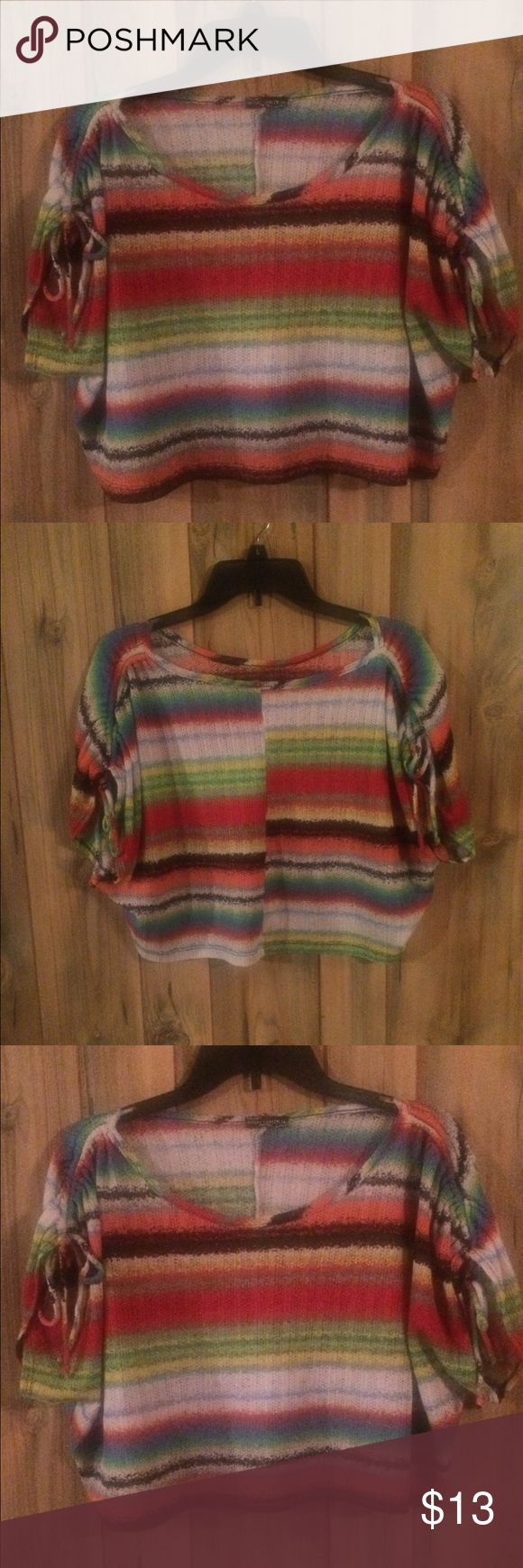 Women's multi color crop top This bright & vibrant crop top great for layering Body Central Tops Crop Tops