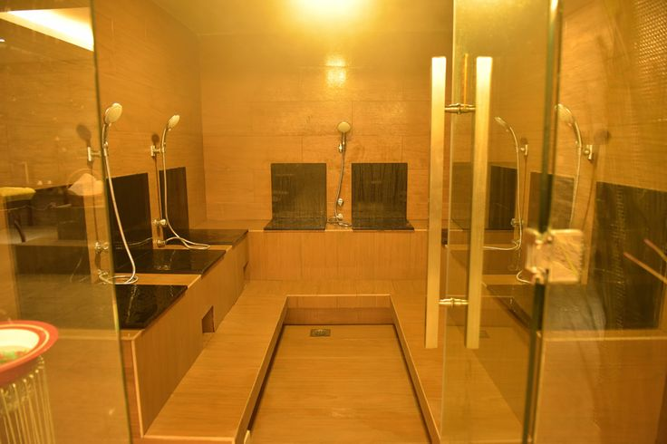 Our separate men's and women's wet spa areas provide Far Infra Red (FIR) medical saunas, steam rooms, Jacuzzis, cold plunge pools and ample space to rest and relax before and after treatment. Photo: Steam Room #steam #room #wellness
