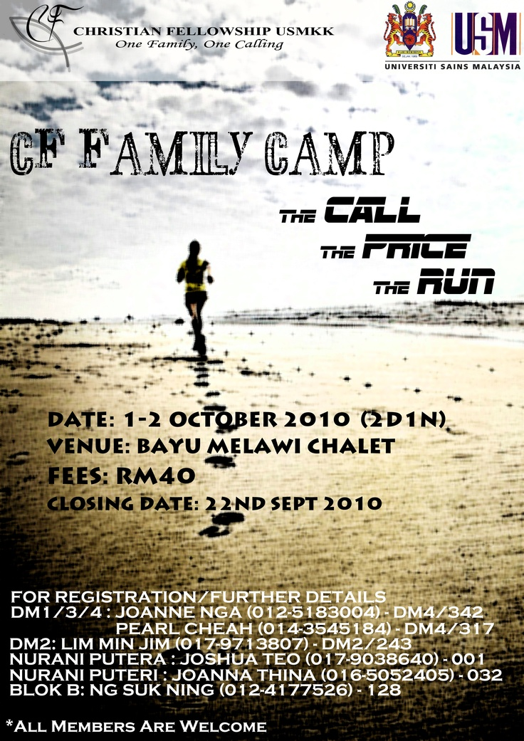 CF Family Camp poster