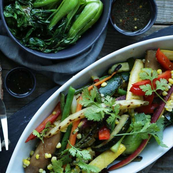 Change things up with this Asian Grilled Vegetables Recipe. Learn how to make an easy flavorful Asian inspired vinaigrette.