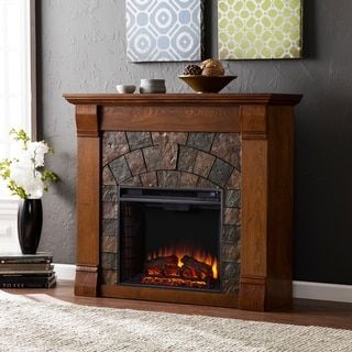 Shop for Harper Blvd Stonegate Antique Oak Electric Fireplace. Get free delivery at Overstock.com - Your Online Home Decor Outlet Store! Get 5% in rewards with Club O! - 13187966