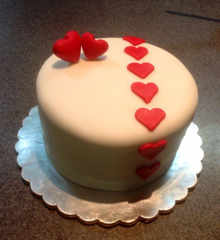 Pastel para San Valentin, listo para que le escriban un mensajito de amor :)
