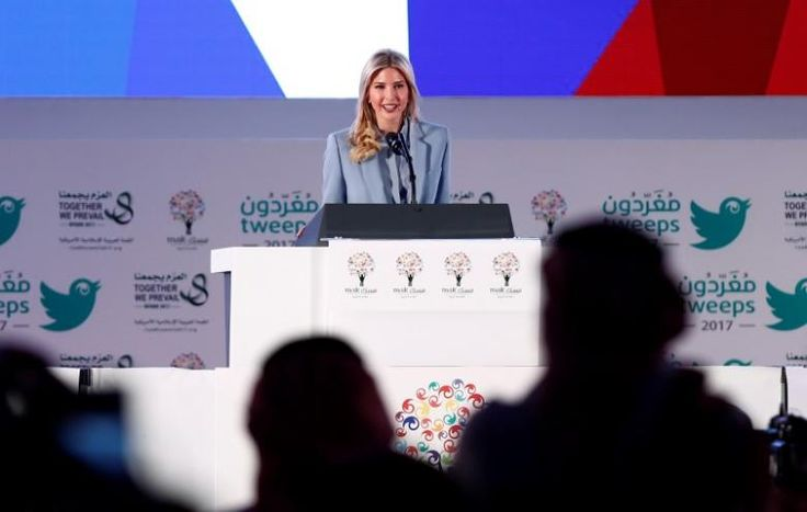 U.S. President Donald Trump's daughter Ivanka Trump speaks at The MISK Event on the second day of his visit to Saudi Arabia, in Riyadh, Saudi Arabia, May 21, 2017. REUTERS/Faisal Al Nasser
