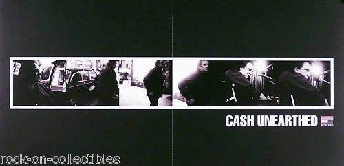JOHNNY CASH 2003 UNEARTHED BOX SET 2-SIDED PROMO POSTER  Link to Rock on Collectibles:  http://stores.ebay.com/Rock-On-Collectibles/Country-Western-Posters-/_i.html?_fsub=10096490&_sid=70220124&_trksid=p4634.c0.m322