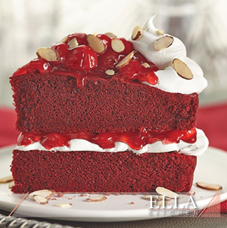 Red Velvet cake is similar to chocolate cake with either a red, bright red or red-brown color. While it is similar to chocolate cake, a baking aficionado will be able to spot the difference.