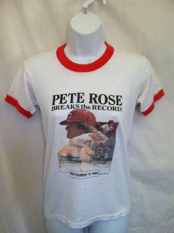 Vintage PETE ROSE Tshirt/ Original XS Sept 11th by sweetVTGtshirt, $40.00