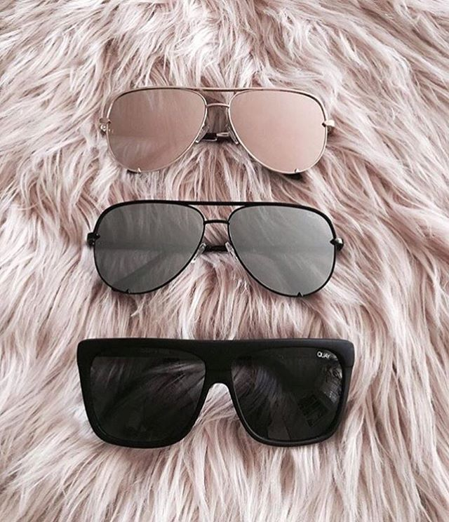 "I love this picture! Thank u @melanieejoy for this post of your #QUAYxDESI collection  @quayaustralia ""HIGH KEY"" black and gold & ""On the low"" ""High key"" will be restocked in September❤"