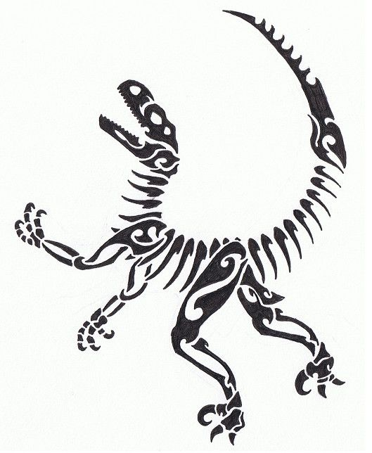 Tribal Raptor Skeleton | Lugares para visitar | Pinterest ...