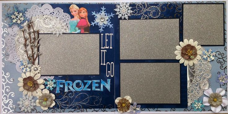 Disney Frozen Scrapbook Layout from Amazing Grace