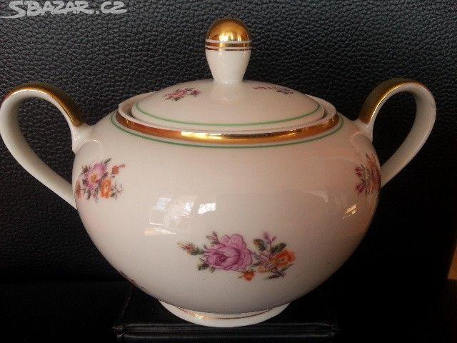 porcelánová cukřenka,značeno kahla - obrázek číslo 1