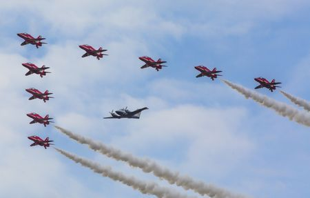 Red Arrows - Formation Flight Photo by Richard Freeman — National Geographic Your Shot