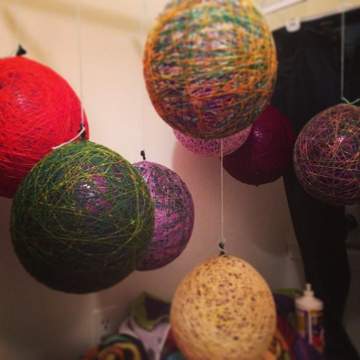 String balloon easter basket