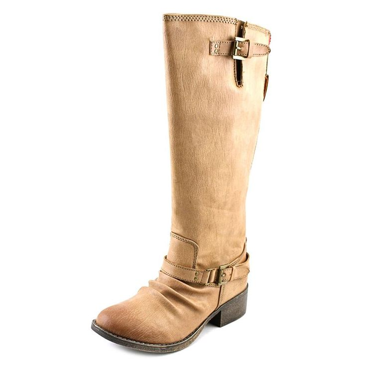 New Steve Madden JBanditt Cognac 1 Girls Boots. A little bit of 'tude mixed with a lot o' bit of style!. Smooth PU upper features decorative buckles. Stand-out back zipper for easy on and off. Heel pull tab for easy on and off. Man made lining and cushioned insole. Blocked heel with durable nonmarking outsole. Imported. Measurements: Heel Height: 1 1⁄4 in Weight: 13 oz Circumference: 14 in Shaft: 13 in Product measurements were taken using size 2 Little Kid, width M. Please note that...