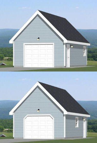 16x28 1 Car Garage 16x28g9a 448 Sq Ft Excellent Floor Plans Floor Plans Garage Car Garage