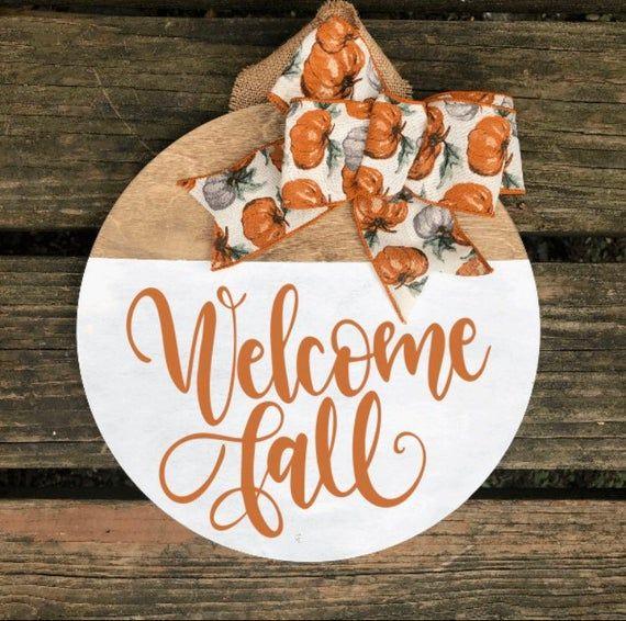 Welcome Fall Door Hanging