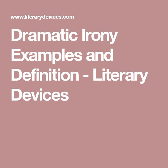 academic writing definition and example of irony