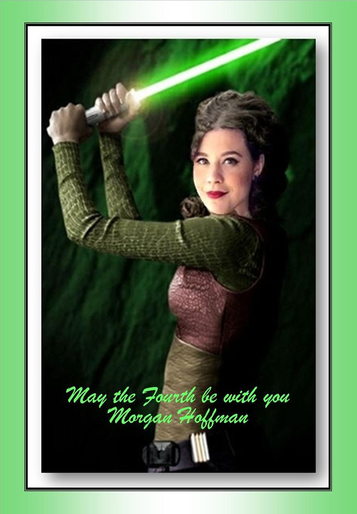 Morgan Hoffman as Padme with a lightsaver for StarWars Day.