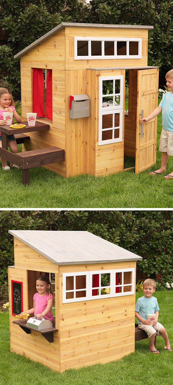 Modern outdoor playhouse - I would have LOVED this dream cubby house as a kid!