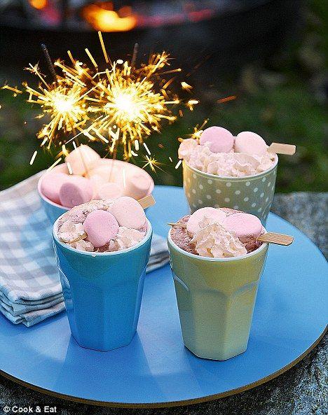 Vanilla hot chocolate with marshmallows recipe