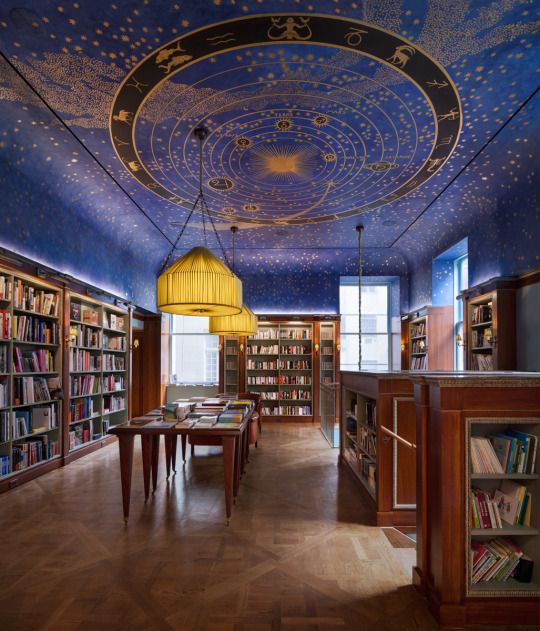 This ceiling is magnificent. I will have it painted in my home library. It will work well, I think, with a comfortable contemporary style.