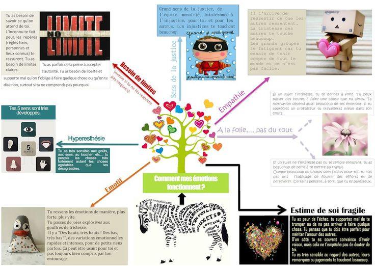 2 très chouettes #infographies sur le fonctionnement #cerebral & #emotionnel des personnes à #HautPotentielIntellectuel réalisées par la psychologue Anne-Laure #Fontannaz :D