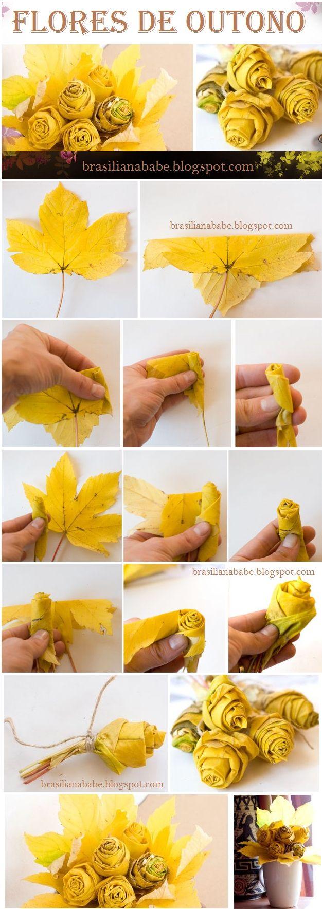 Craft: Flores de Outono                                                                                                                                                                                 Mais