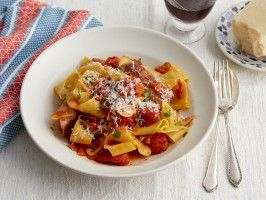 Vincent Esposito's Fresh Pappardelle with Tomato Sauce and Italian Sausage from CookingChannelTV.com