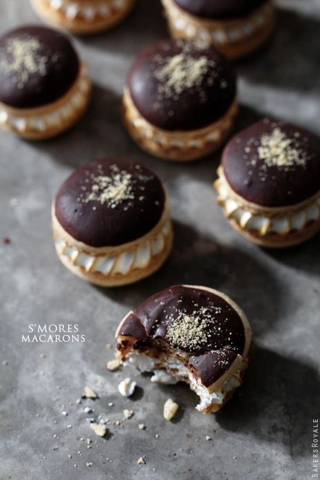 Smores Macarons from Bakers Royale