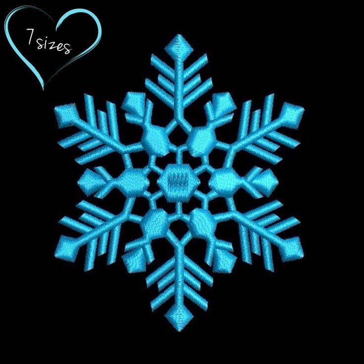 Snowflake machine embroidery design winter Christmas designs pes pattern in the hoop towel instant digital download 1 by SvgEmbroideryDesign on Etsy