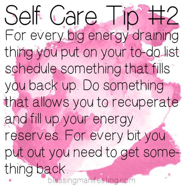 Blessing Manifesting - Self care Tip