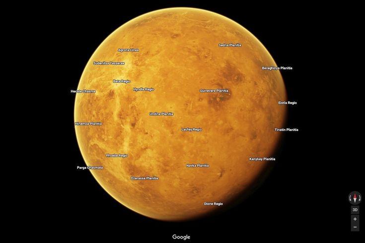 Google Maps añade los mapas de 12 planetas y satélites del Sistema Solar