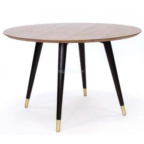 Стол обеденный круглый STUART грецкий орех 120 см Concepto