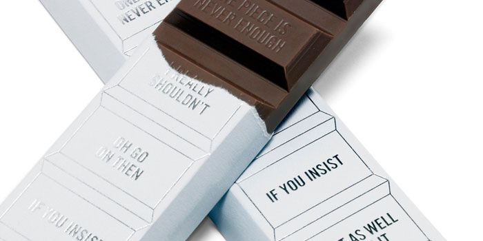 chocolat quirky packaging funny note message
