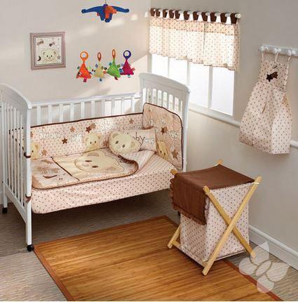 """Cunero """"Andy"""" en Color Beige y Café. Accesorios, Cobijas y Juegos de Cuna para Bebés. Nuevos diseños de mantas y cobijas para bebé, edredones para cunas y pañaleras para que tu bebé duerma seguro y comfortable. Todos los accesorios, cobijas y juegos de cuna para bebés cuentan con el respaldo y la calidad de Intima Hogar."""