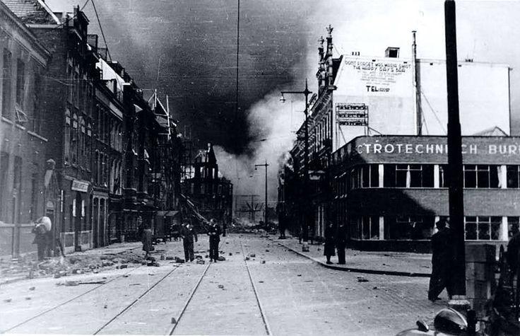 Rotterdam, Mei 1940 - Vasteland ter hoogte van de Zalmhaven