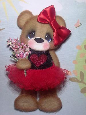 ELITE4U Tear Bear Girl Tutu Red Paper Piecing Scrapbook Card Album | eBay