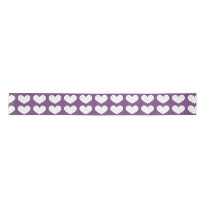 Bright Purple Heart Valentine's Day Ribbon - valentines day gifts love couple diy personalize for her for him girlfriend boyfriend