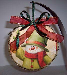 Etiquette cadeau et décoration pour sapin sur CD