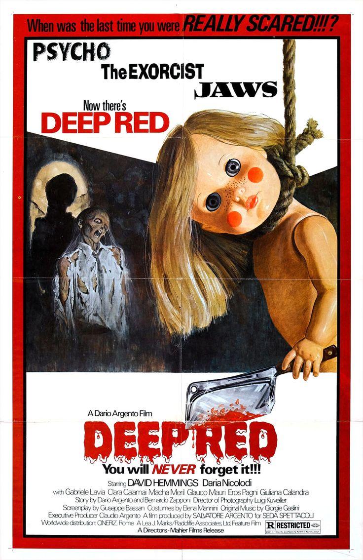 Deep Red – Βαθύ Κόκκινο (1975). Για πολλούς το «Deep Red» είναι το καλύτερο giallo όλων των εποχών. Επιβεβλημένη η παρακολούθησή του από κάθε σοβαρό horror fan και όχι μόνο των #giallo.