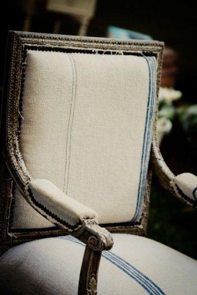 grain sack chairBurlap Upholstery, Chairs Burlap, Grain Sack, Chairs Rough Details, Upholstery Heritageupholsteri, Grains Sack, French Chairs, Sack Chairs Rough, Sack Chairs Lov