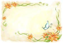 Virágos szülinapi meghívók, születésnapi meghívó minták virág mintával.