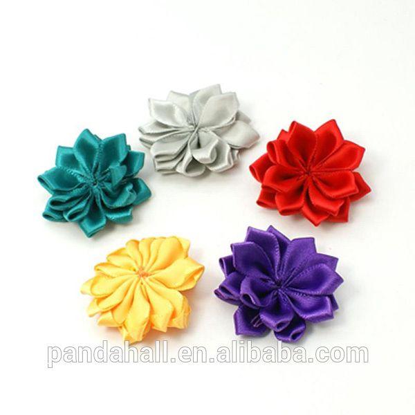 Mixed Hair Ribbons 3D Fabric Flowers Ribbon Flower for Headband(WOVE-QS17-M), View ribbon flower for headband, pandahall.com Product Details from Pandahall Jewelry Technology Co., Ltd. on Alibaba.com