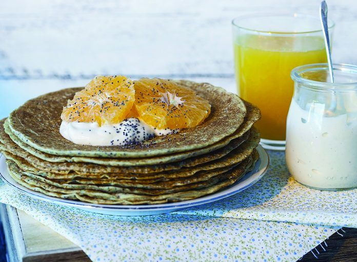 Orange, Poppyseed & Flaxseed Pancakes